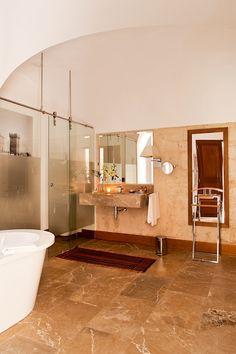 Bathroom of the Suite Cap Rocat #luxury #hotel