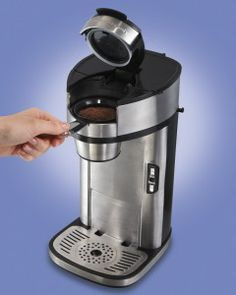 Hamilton Beach Single Serve Scoop Coffee Maker Deal- love that you don't have to use all those ridiculously expensive cups!