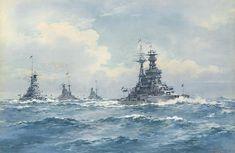 HMS Royal Oak, HMS Revenge, HMS Royal Sovereign and HMS Resolution.