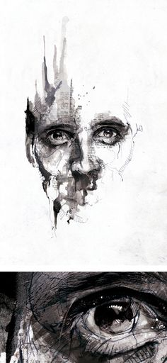 Pencil Portrait Mastery - Textured Illustrations by Florian Nicolle aka Neo Pencil Portrait, Portrait Art, Portrait Ideas, Pintura Graffiti, A Level Art, Gcse Art, Art And Illustration, Illustration Techniques, Art Plastique