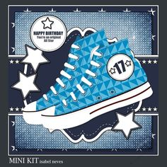 Original All Star 4 by Isabel Neves 4 Sheet Mini Kit Includes: Card Front, Mini Print & Fold Card, Card Insert, Tiles, Decoupage, Several…