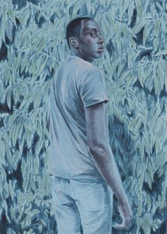 """Kris Knight, Moon Maze, 28x20 inches (on 30x22"""" paper), Oil on prepared cotton paper, 2015"""