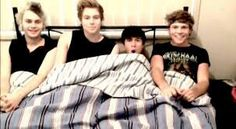 5sos in bed together! For those with dirty minds( dont take that the wrong way )