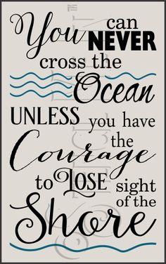 Cross The Ocean Beach Typography Stencil | Stencil Me In