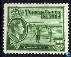 Stamps - Turks and Caicos Islands - King George VI - Salt 1938