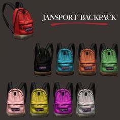 Sport Backpack (P) at Leo Sims • Sims 4 Updates