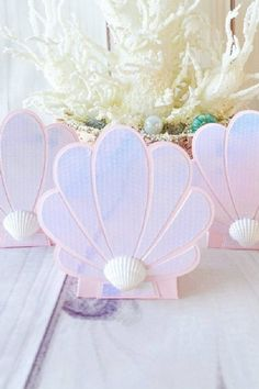 You could also send your guests home with a seashell candy box full of goodies. They are perfect for a mermaid party. See more party ideas and share yours at CatchMyParty.com #catchmyparty #partyideas #mermaidparty #mermaids #mermaidpartyideas #underthesea #mermaidfavorbags Mermaid Party Favors, Boy Party Favors, Mermaid Parties, Party Favor Bags, Mermaid Birthday, Girl Birthday, Birthday Parties, 9th Birthday, Birthday Ideas