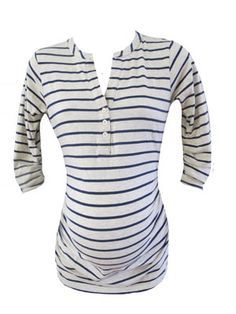 Ellie in Cream/Navy by Moms The Word Maternity - Maternity Clothing - Flybelly Maternity Clothing