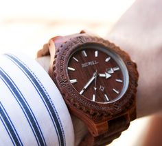 Personalized/Engraved Mens Wooden Watch Red by UrbanDesignerNYC