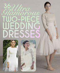 158b4913c4c 36 Ultra Glamorous Two-Piece Wedding Dresses via  buzzfeed Two Piece Wedding  Dress