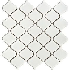 Merola Tile Lantern in. White Porcelain Mesh-Mounted Mosaic at The Home Depot-Moroccan Tile, Kitchen backsplash Mosaic Tile Sheets, Mosaic Tiles, Wall Tiles, Mosaics, Home Depot, Lantern Tile, White Porcelain, Porcelain Floor, Home Interior