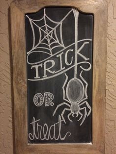 Unique Haloween Chalk Art Halloween Chalkboard Art Trick Or Treat Spider Chalk About It pertaining to [keyword Chalkboard Paint Kitchen, Chalkboard Doodles, Chalkboard Art Quotes, Chalkboard Drawings, Chalkboard Lettering, Chalkboard Designs, Chalk Drawings, Chalkboard Ideas, Fall Chalkboard Art