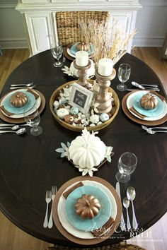 Coastal Casual Fall Tablescape (on A Budget