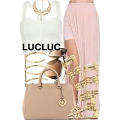 3|4|15 LUCLUC by miizz-starburst on Polyvore featuring River Island, Charlotte Russe, MICHAEL Michael Kors, Noir Jewelry and Forever 21