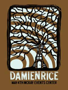 great gig posters- damien, spoon, shins, etc. Concert Tickets, Concert Posters, Poster Ads, Poster Prints, Damien Rice, Vintage Music Posters, Expressive Art, Music Tv, Cool Posters