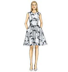 V9075, Misses'/Misses' Petite Dress and Jumpsuit