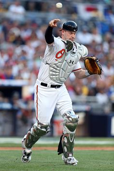 #Allstar2016 American League AllStar Matt Wieters of the Baltimore Orioles in action against the National League AllStars during the 2016 MLB AllStar Game at...