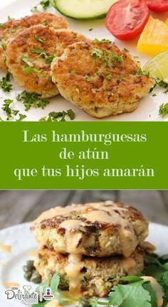 Consiente a tu familia con estas deliciosas hamburguesas de atún, ideales para cuidar la salud de tu seres queridos sin sacrificar el sabor.