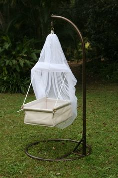 Rock-a-bye cradle. I wish my little ones were still small enough for this!