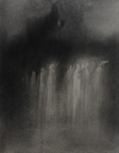 Original art for sale at UGallery.com | Light of Dark by Drew McSherry | charcoal drawing | 25' h x 19' w