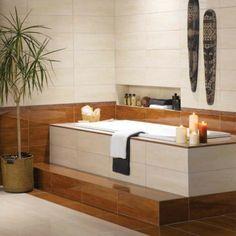 badewanne einfliesen badezimmer einrichtung mit zen atmophäre