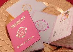 海外で人気*パスポート風招待状デザインまとめ