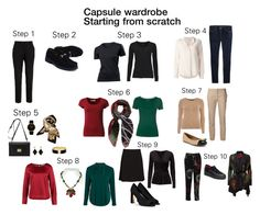 """""""Capsule Wardrobe, step 1-10"""" by cassican on Polyvore featuring Ellos, Gucci, Diane Von Furstenberg, Larsson & Jennings, Alexander McQueen, The Row, Marc by Marc Jacobs, Dorothy Perkins, MINNA and Desigual"""