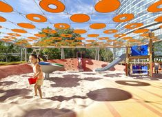 Indigo Playgrounds designed by BAM Ballistic Architecture Machine in Beijing, China © Jonathan Leijonhufvud. Playground Safety, Playground Design, Landscape Architecture, Landscape Design, Architecture Design, Park Landscape, Play Spaces, Kid Spaces, Shade Structure