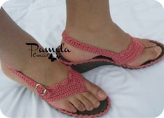 Tejida Crochet Sole, Crochet Sandals, Crochet Slippers, Knit Shoes, Sock Shoes, Crochet Flip Flops, Yarn Bag, Shoe Pattern, How To Make Shoes