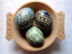 Hand painted Romanian Easter eggs