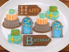 Birthday Cookie Designs | ... Yourself - Be Inspired Birthday Cookies – Semi Sweet Designs