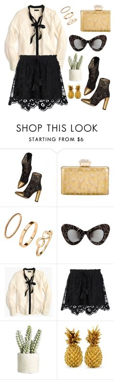 """""""Rock and romantic"""" by pensivepeacock ❤ liked on Polyvore featuring Balmain, Lanvin, H&M, Jeremy Scott, J.Crew, Chloé and Allstate Floral"""