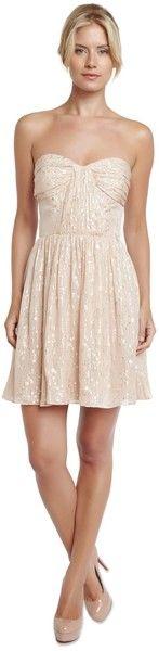 Shirred Strapless Dress - Lyst
