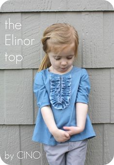 the Elinor top tutorial.  Wouldn't this be cute, lengthened into a dress?