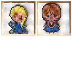 Elsa and Anna - Frozen hama beads by craftykelly21