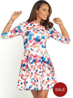 rochelle-humes-printed-jersey-skater-dress