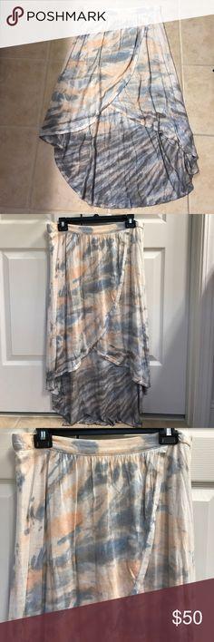 Size M high low tie dye asymmetrical skirt Size M boutique high low tie dye asymmetrical skirt Skirts High Low