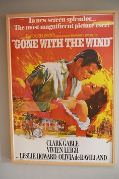 1976 Vintage Gone With The Wind Movie Poster Clark Gable and Vivien Leigh yqz Old Movie Posters, Classic Movie Posters, Cinema Posters, Film Posters, Classic Movies, Western Film, Western Movies, Love Movie, Movie Tv