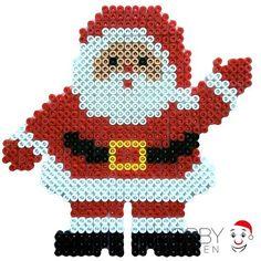 Santa Claus Christmas hama perler beads by Nath Hour Perler Bead Designs, 3d Perler Bead, Hama Beads Design, Pearler Bead Patterns, Perler Patterns, Pearler Beads, Fuse Beads, Quilt Patterns, Christmas Perler Beads