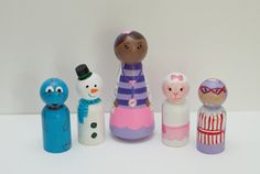 Doc Mcstuffins Inspired Cake Toppers/Wooden Peg by anrcdb2006, $28.50