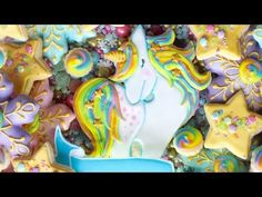 Unicorn cookie decorating - Holiday Unicorn Cookie Platter - PuzzlesPrint Custom Puzzles - YouTube