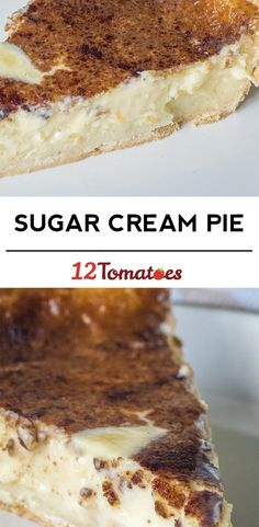 Classic Sugar Cream Pie One slice of this pie just isn't enough! Amish Recipes, Sweet Recipes, Cooking Recipes, Just Desserts, Delicious Desserts, Yummy Food, Custard Desserts, Lemon Desserts, Limoncello