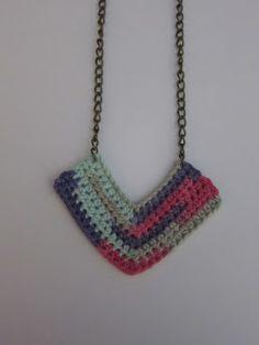 Handmade Crochet & Beautiful Things, Chevron Necklace