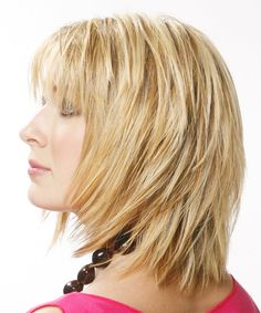 Medium Hairstyle - Straight Casual - Medium Blonde | TheHairStyler.com