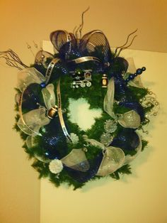 20 inch Dallas Cowboys Christmas Wreath