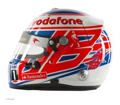 Pictures of the helmet designs being used by all the drivers in and several of the reserve drivers' helmets. Cool Motorcycle Helmets, Racing Helmets, Cycling Helmet, Cool Motorcycles, F1 Racing, Formula 1, Helmet Paint, Mclaren F1, F1 Drivers