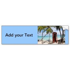 Red public Telephone Booth on Antigua Bumper Sticker