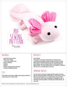 He encontrado este interesante anuncio de Etsy en https://www.etsy.com/es/listing/225264102/axolotl-stuffed-animal-sewing-pattern