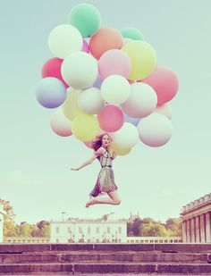 Fashion Photography With Balloons.