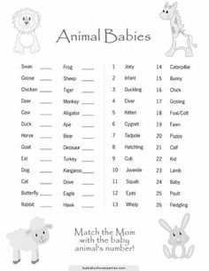 Image of: Safari Printable Baby Shower Games Baby Animal Match Baby Shower Game Printable By Thepartystork 720x932 Pinterest Animal Matching Baby Shower Game free Printable Party Ideas
